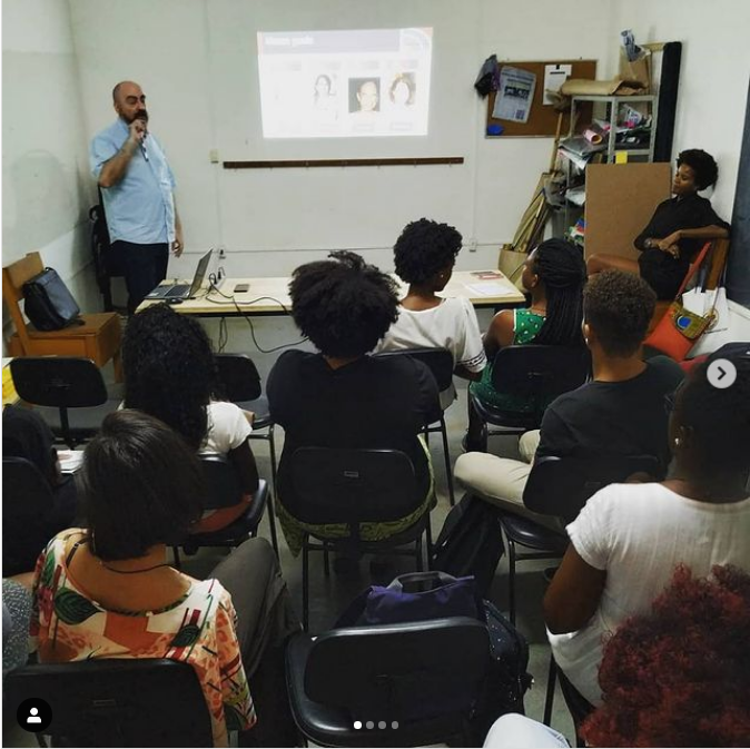 Aula inaugural do AbratesAfro em 20 de outubro de 2018