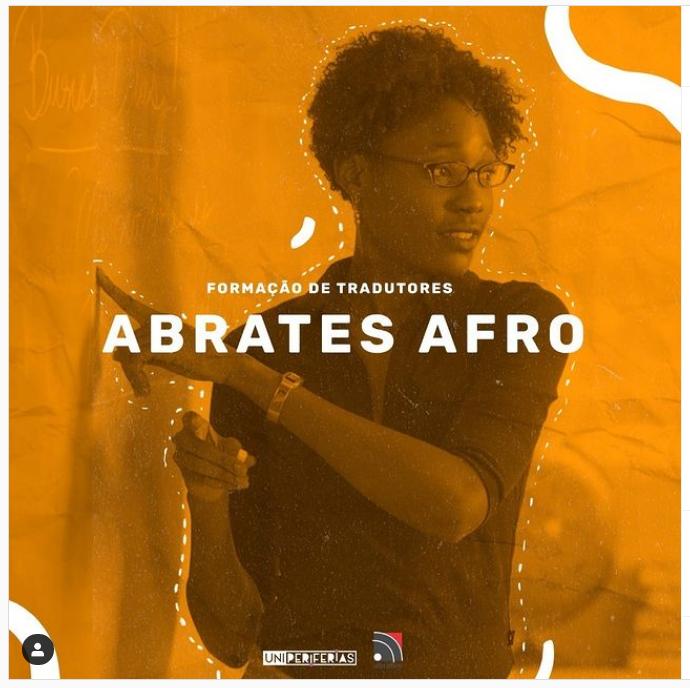 Pôster promocional da Abrates Afro